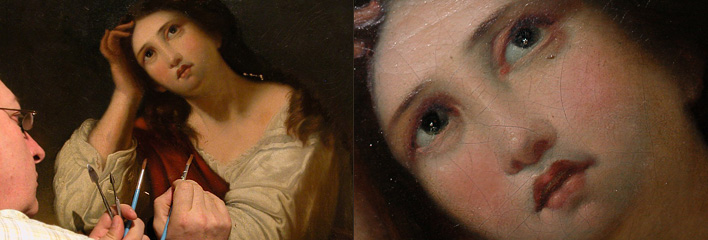 Painting Restoration and Conservation by Seattle and Bellevue Grashe Fine Art Restorers.