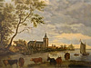 Seattle Painting Restoration and Concervation: Flemish School. ''Old Fishing Village''.