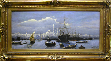 Grashe Seattle and Bellevue Fine Art Restorers. Art for sale: Painting ''Constantinople'' By Roberto Menzies (Menzie, James), Dated: 1899.