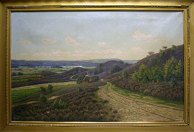 Grashe Seattle and Bellevue Fine Art Restorers. Art for sale: Painting ''Danish Landscape'' Frederikson Erling 1852-1921.