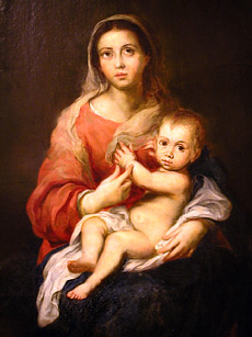 Grashe Seattle and Bellevue Fine Art Restorers. Art for sale: Painting ''Madonna With Child''