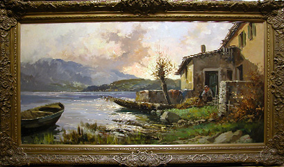 Grashe Seattle and Bellevue Fine Art Restorers. Art for sale: Painting ''Morning'' By Giuseppe Cosenza(Italian), 1847-1922.