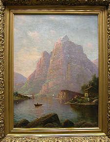 Grashe Seattle and Bellevue Fine Art Restorers. Art for sale: Painting ''Norvegian Bjorn'' By Giuseppe Cosenza(Italian), 1847-1922.