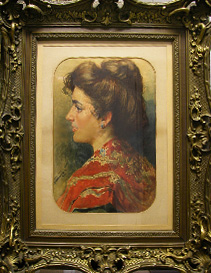 Grashe Seattle and Bellevue Fine Art Restorers. Art for sale: Painting ''Spanish Woman'' By Ferdinand Marinus Joseph Bernard, 1808-1890, Belgium.