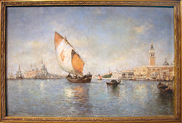 Grashe Seattle and Bellevue Fine Art Restorers. Art for sale: Painting ''Venice'' By Gelibert Paul Jean Piere, 1802-1883.